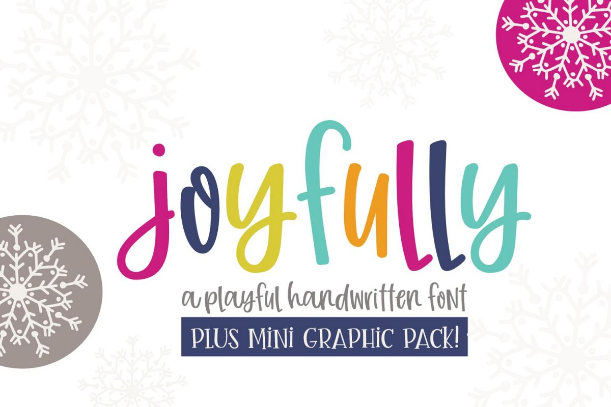 Joyfully Font & Graphics example image 1