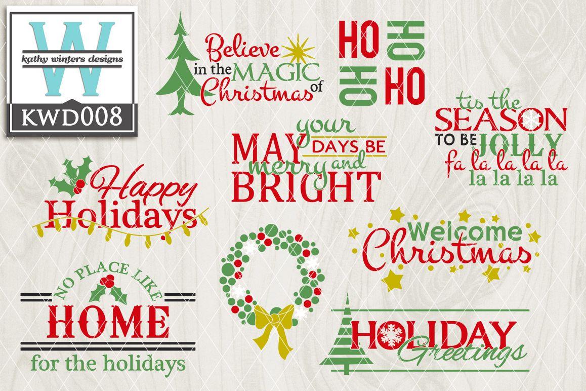 Christmas Cutting Files KWD008 example image 1