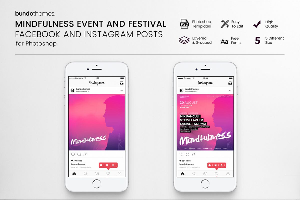 Mindfulness Event and Festival Social Media Pack example image 1