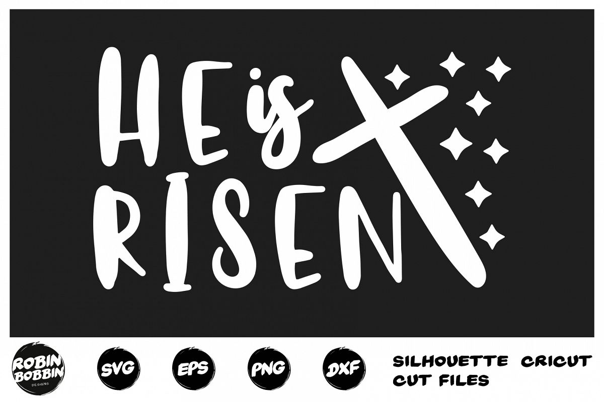 Easter svg, He Is Risen SVG, Jesus Easter svg, Christian svg example image 1