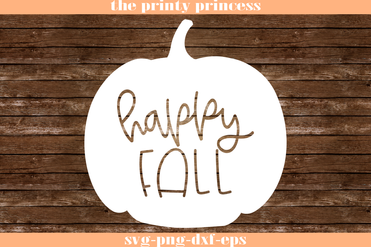 Happy Fall svg, Autumn svg, Pumpkin svg design file example image 1