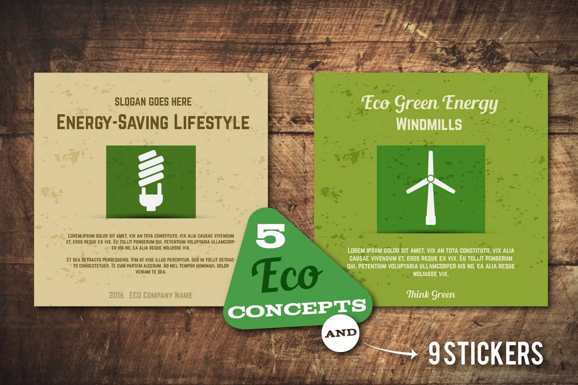 5 Eco Poster Concepts Stickers