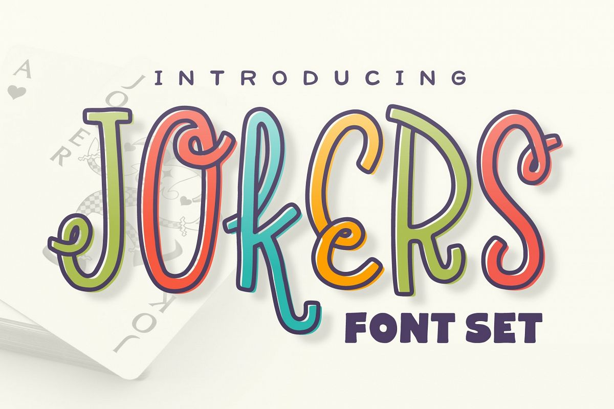 Jokers Font Set example image 1