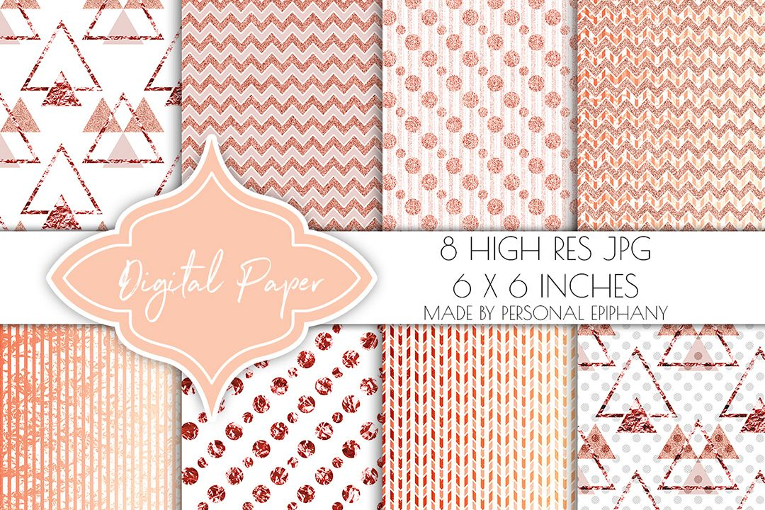 rose gold digital paper glitter background rose gold foil