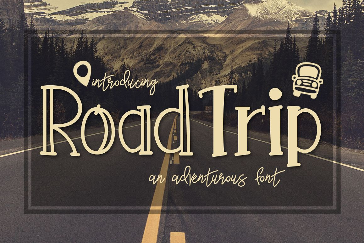Road Trip an Adventurous Font example image 1