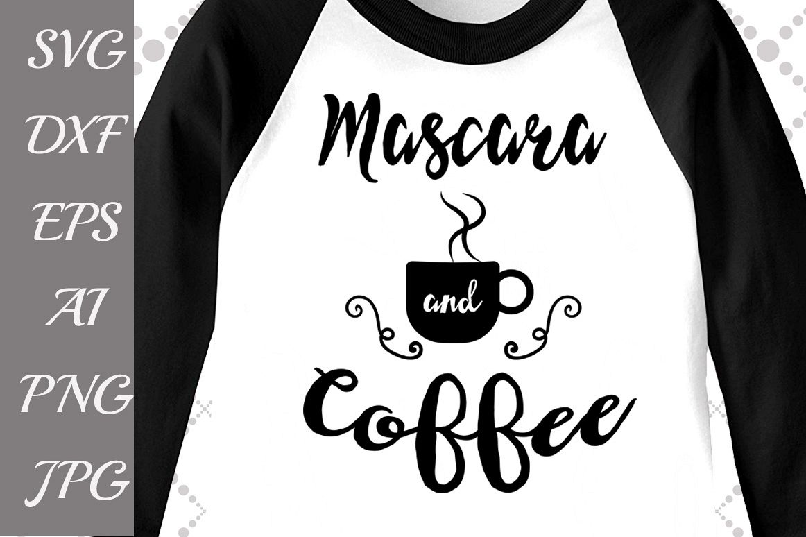 Mascara and Coffee Svg example image 1