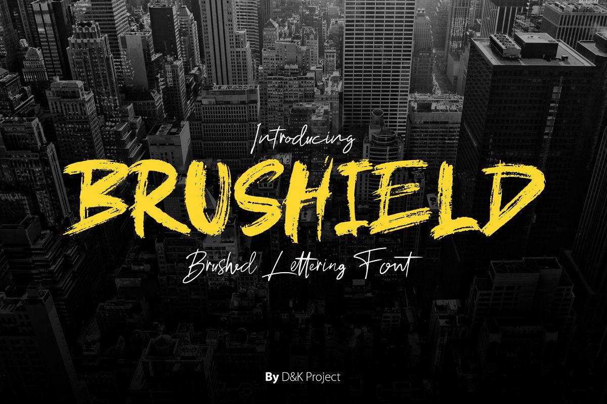 Brushield handwritten brush font example image 1