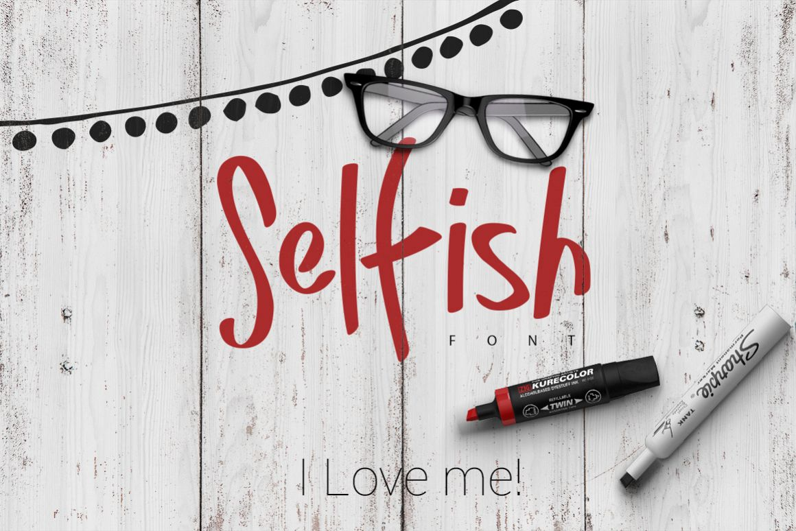 Selfish Font example image 1