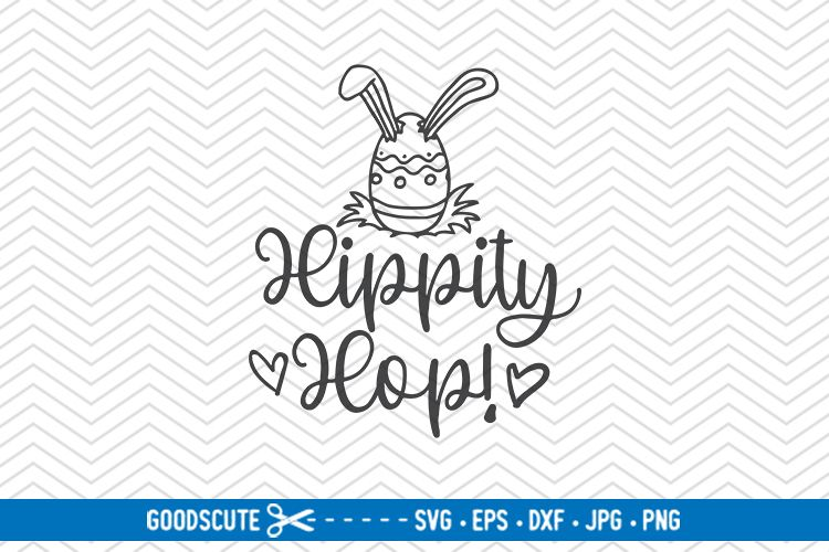 Hippity Hop - SVG DXF JPG PNG EPS example image 1