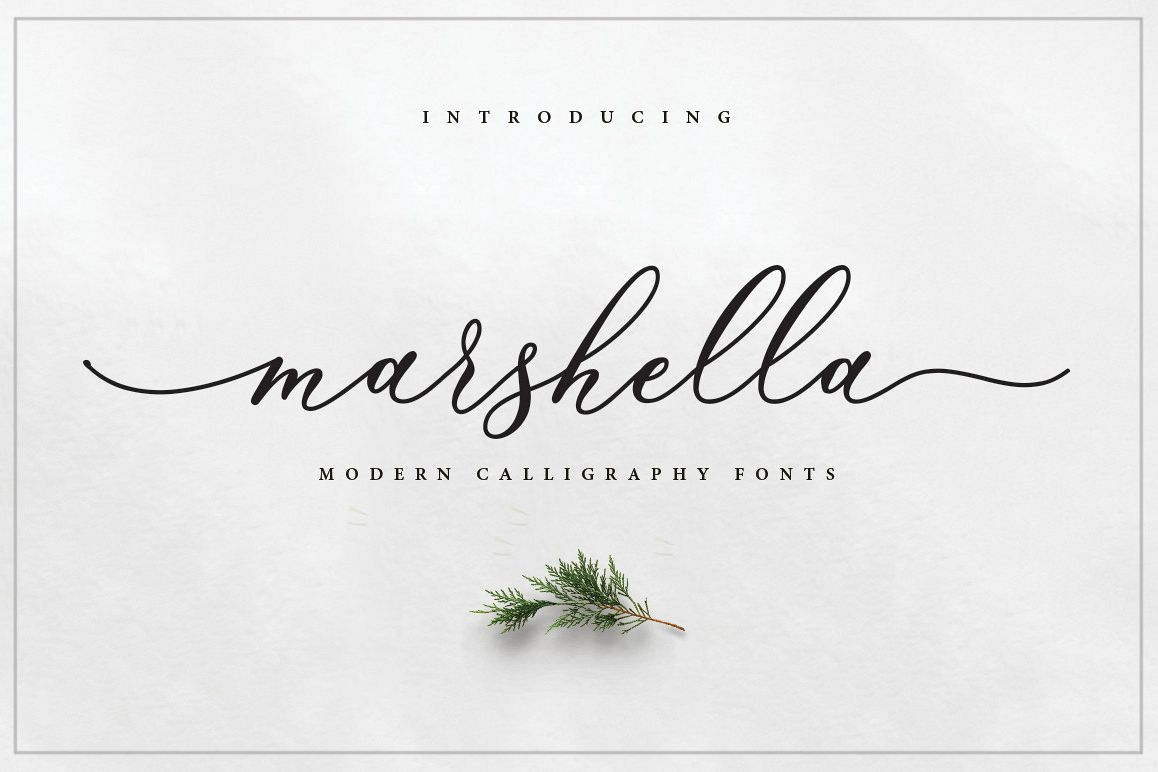 Marshella Script example image 1
