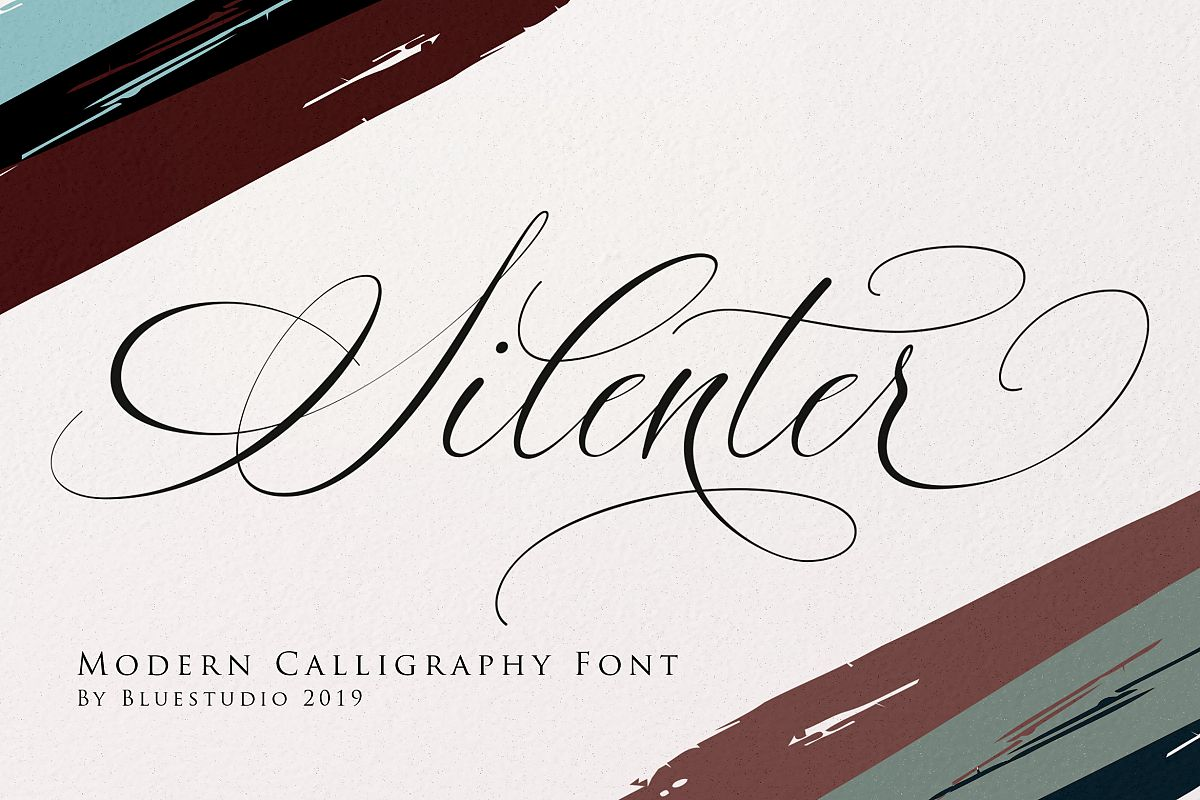 Silenter / Modern Calligraphy Font example image 1