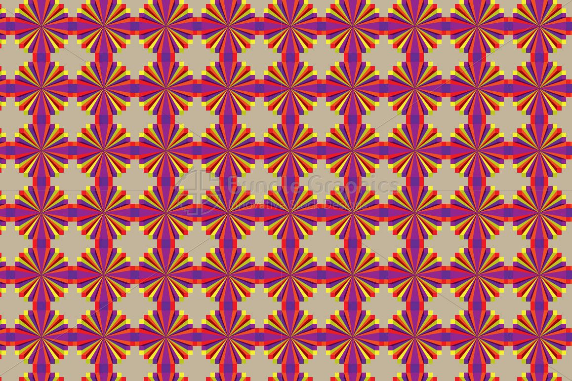 Colorful Geometrical Illusion Pattern example image 1
