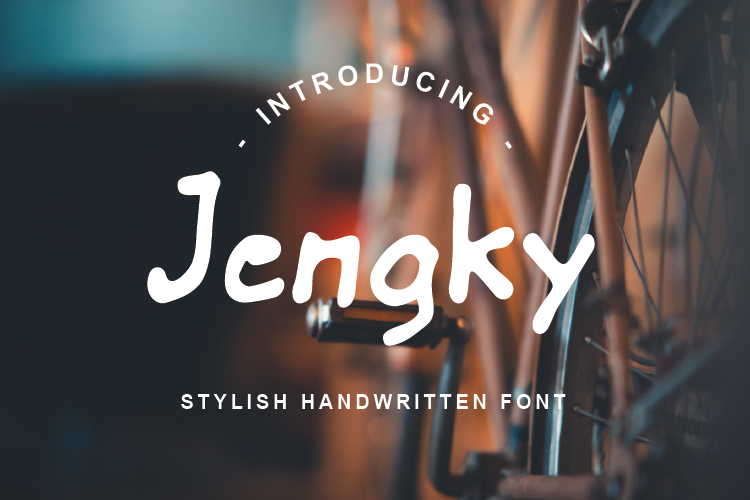 Jengky Font example image 1