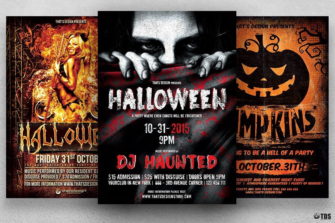 Halloween Flyer Bundle V2 Example Image 1
