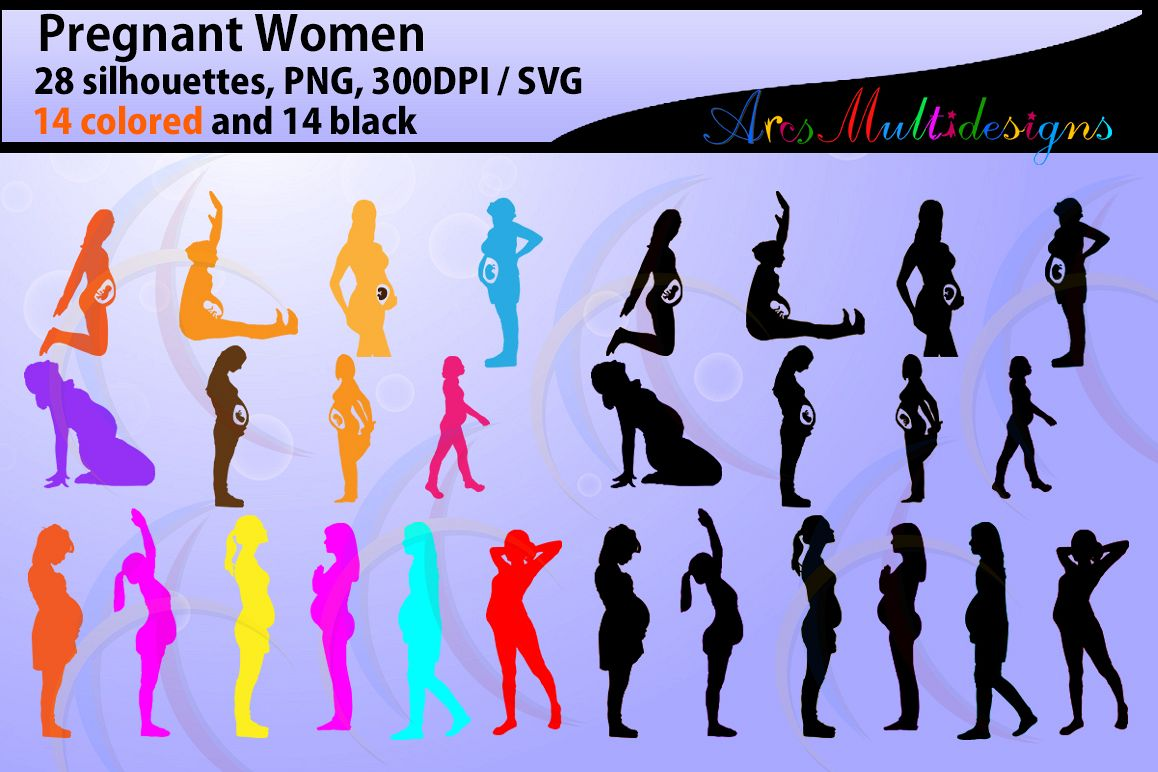 Pregnant Women silhouette svg / Pregnant Women / printable Pregnant Women silhouettes / fetus / Cricut / pregnant svg files SVG PNG example image 1
