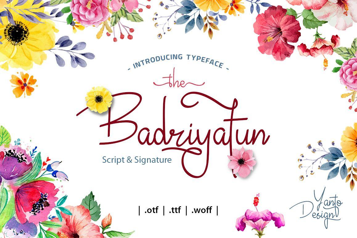 Badiryatun Script Font example image 1