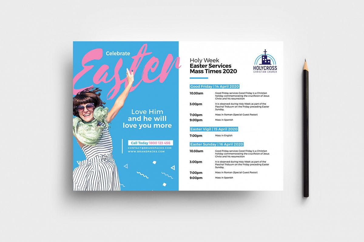 Easter Service Flyer Template example image 1