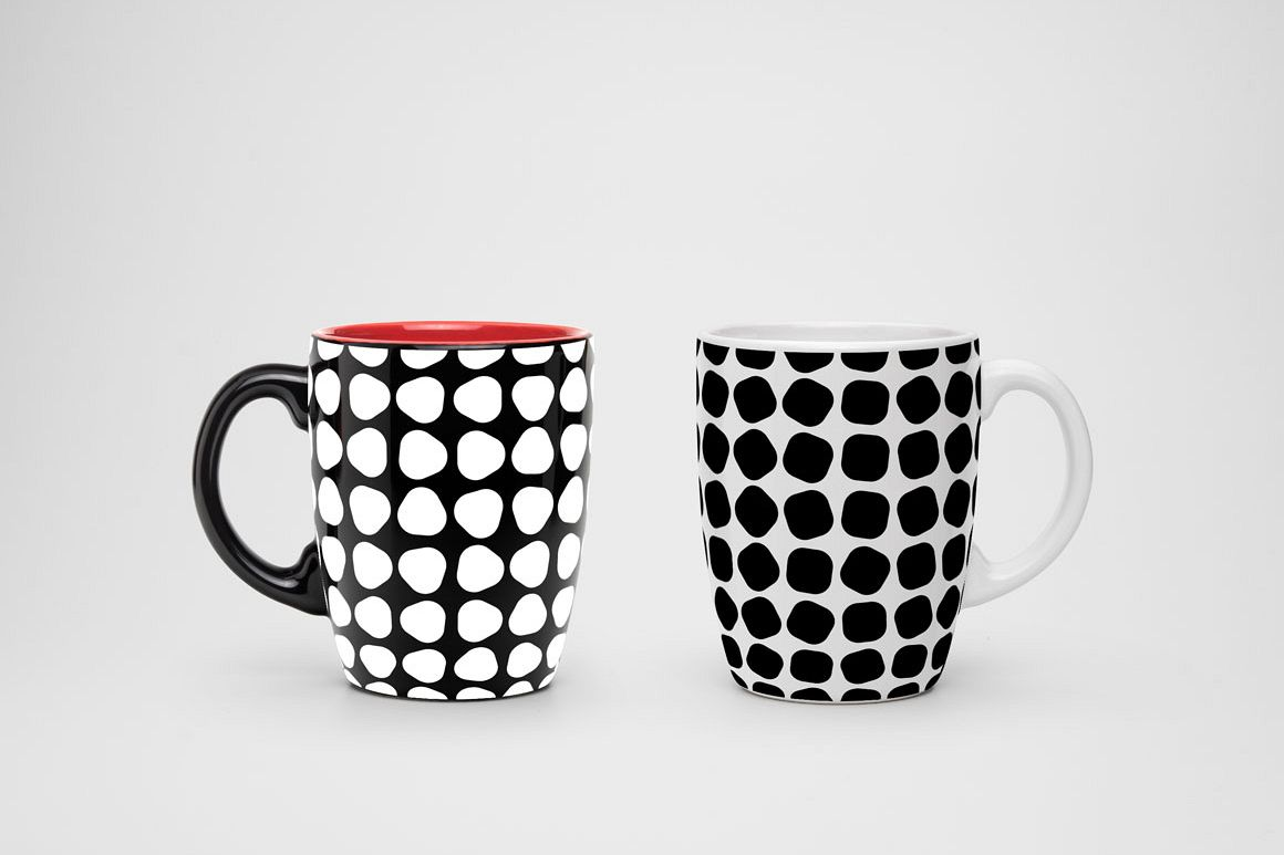 Seamless geometric patterns. 3 colors example image 1
