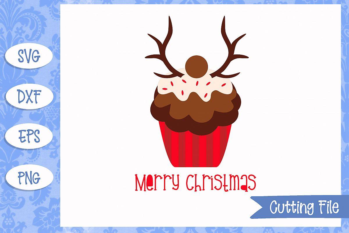 Reindeer cupcake cut File example image 1