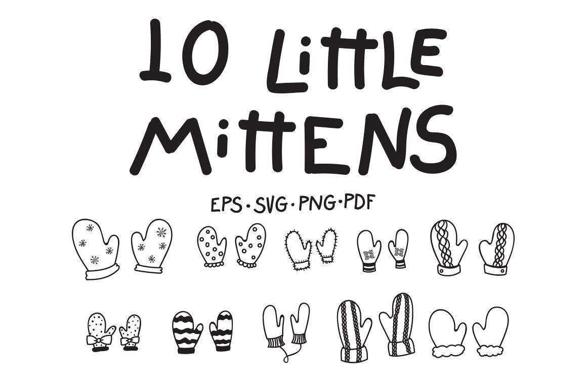 10 Little Mittens example image 1