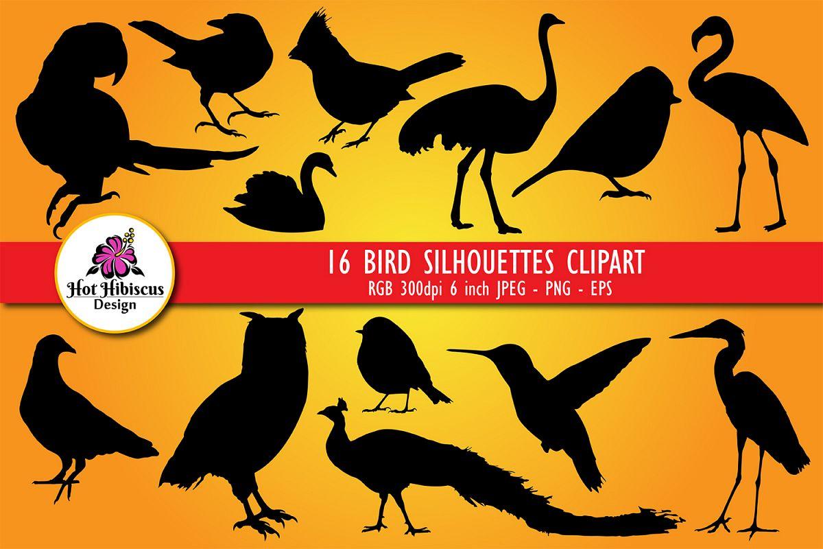 Birds Silhouettes Clipart Bundle example image 1