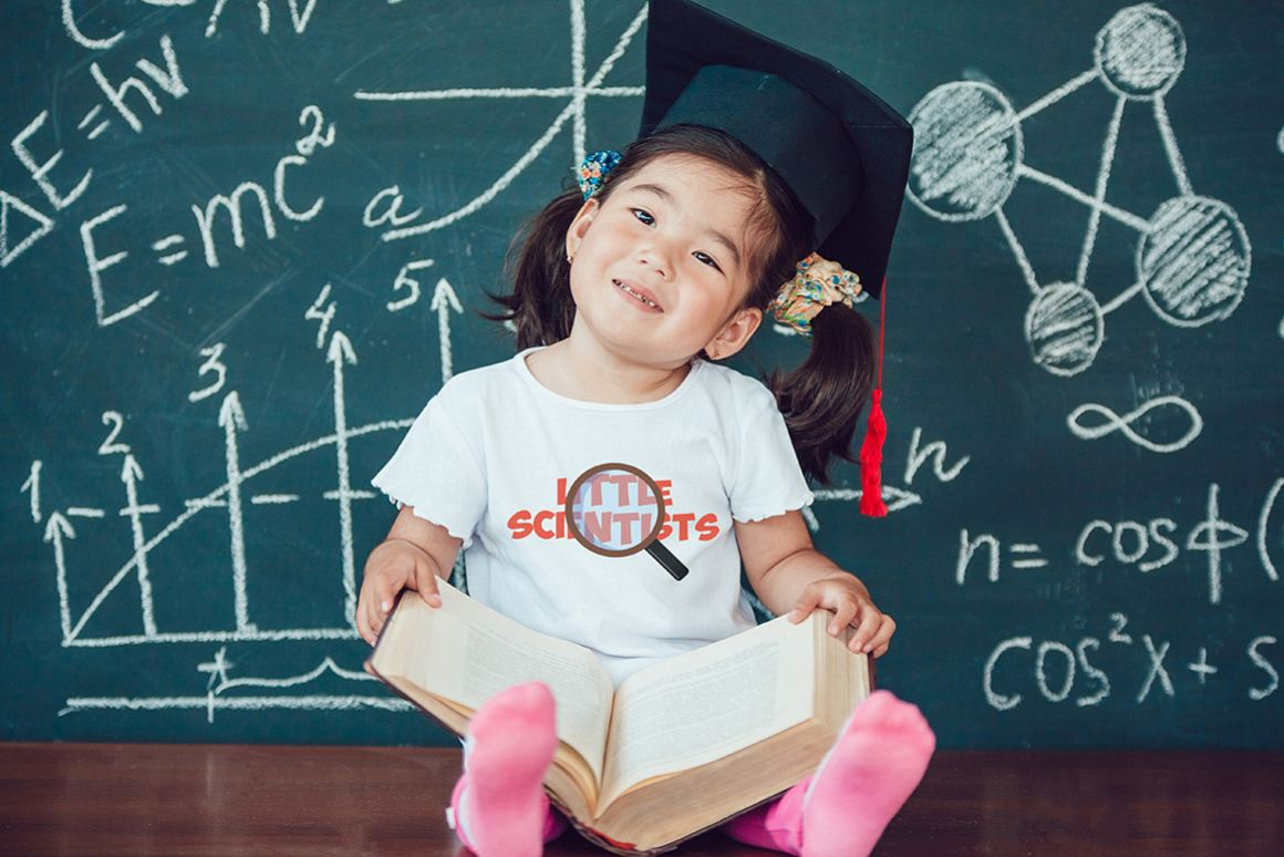 Little Scientists T-Shirt Mock-Up example image 1