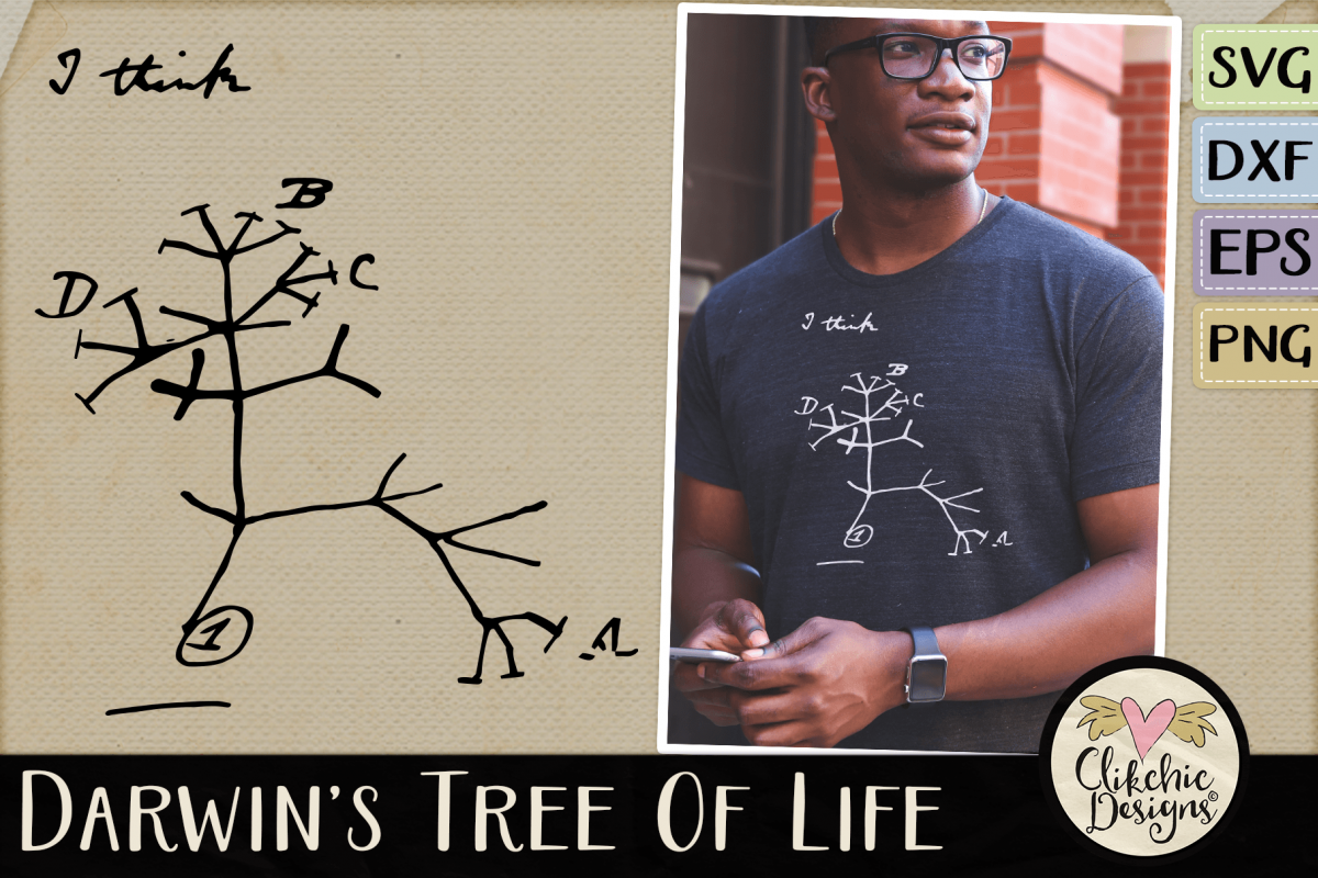 Darwin's Evolutionary Tree of Life SVG Cutting File example image 1