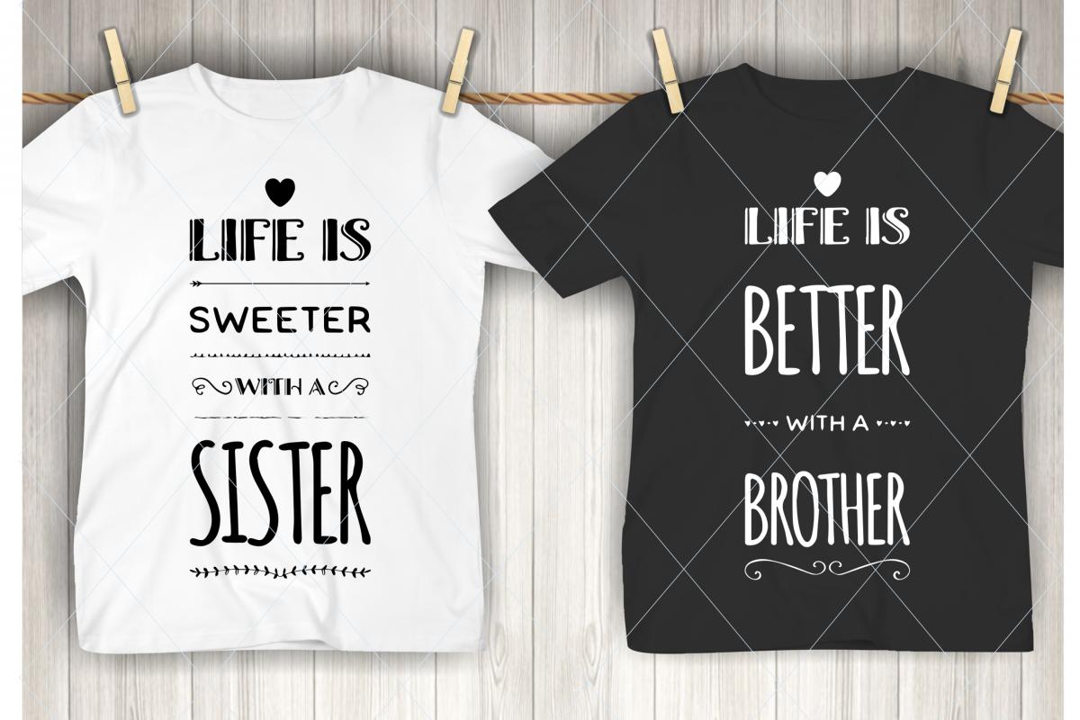 Brother svg, sister svg, family cut file, kids, children svg example image 1