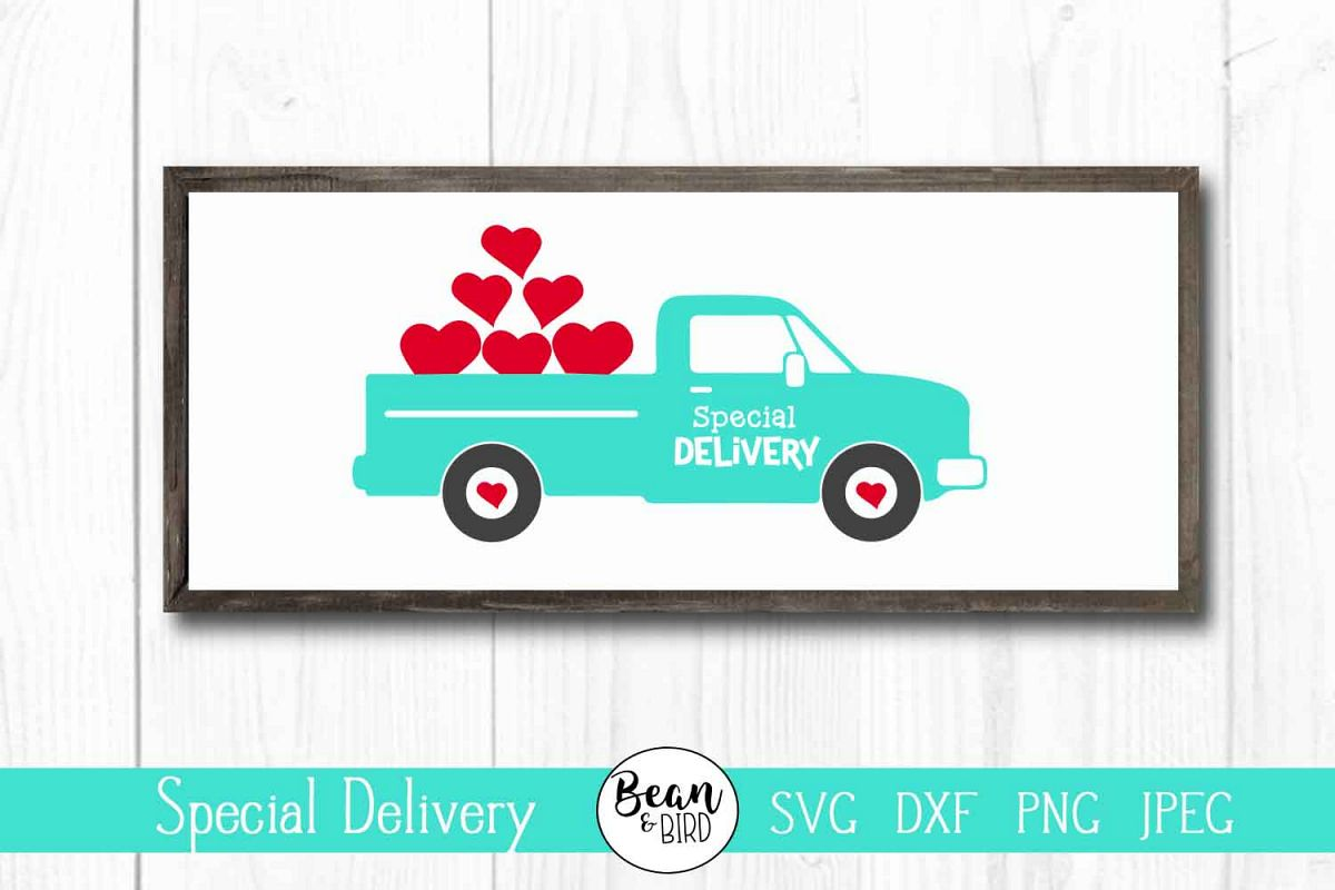 Special Delivery Valentines Day Truck example image 1