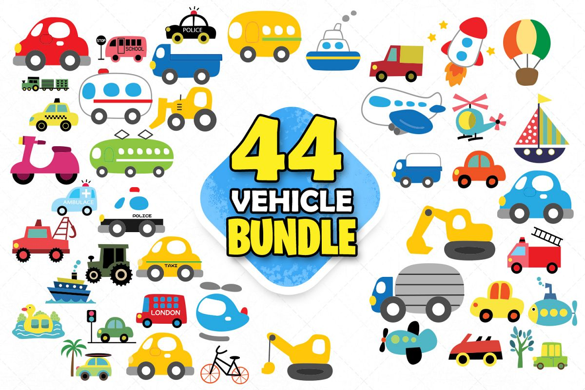 Vehicle Clipart Children S Cars Kids Car Toy Cars Svg Vector