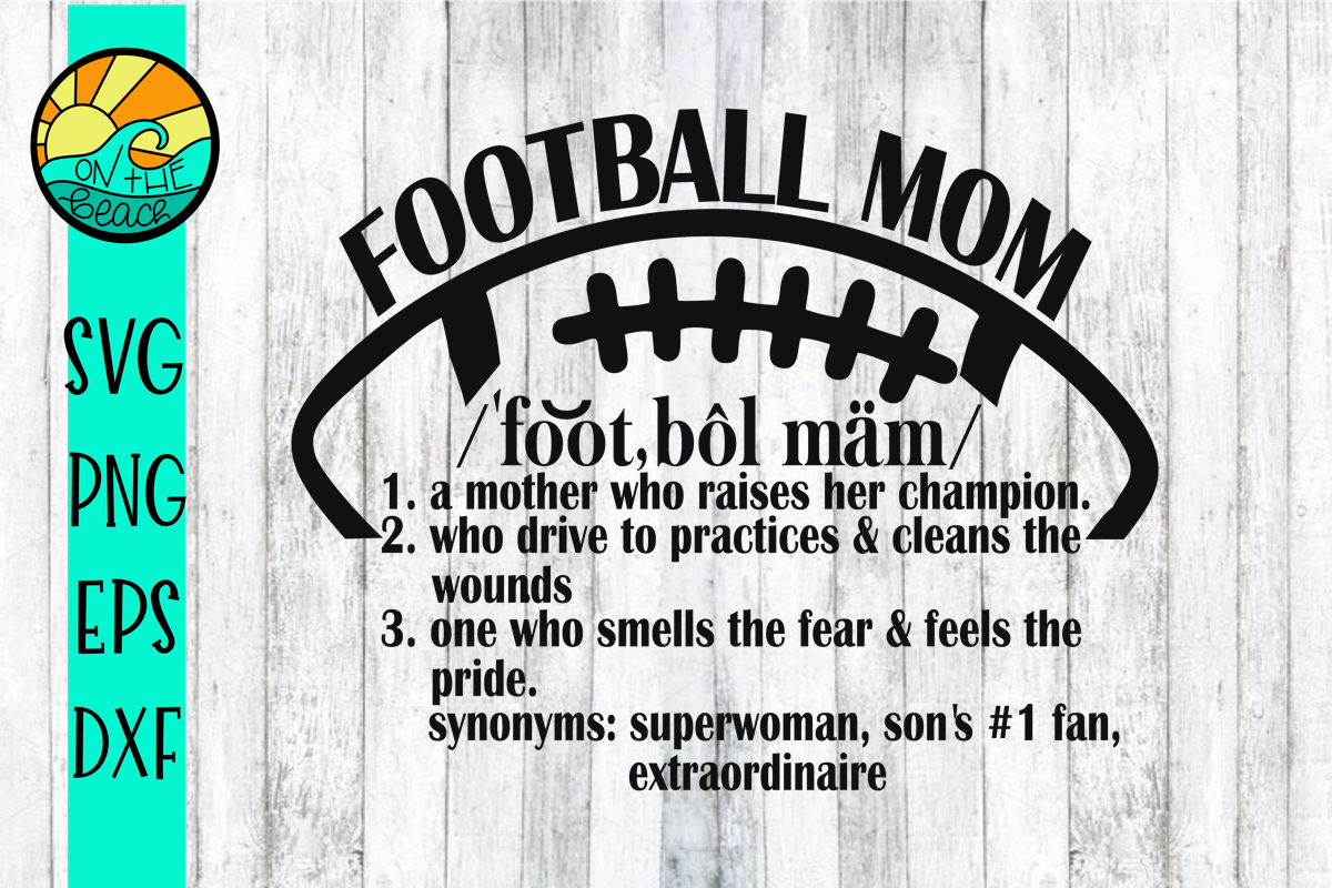 Football Mom Fan - SVG - DXF - EPS - PNG example image 1