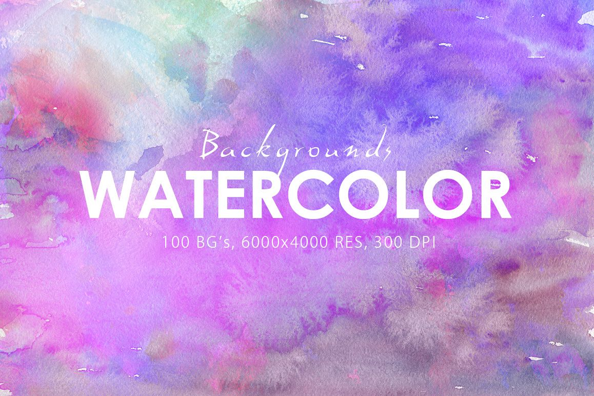 100 Watercolor Backgrounds Vol.2 example image 1