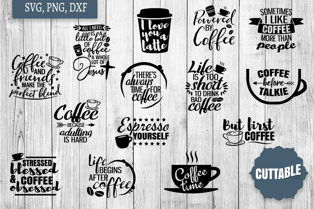 Coffee SVG Bundle, Coffee Cut Files, Coffee SVG quotes example image 1
