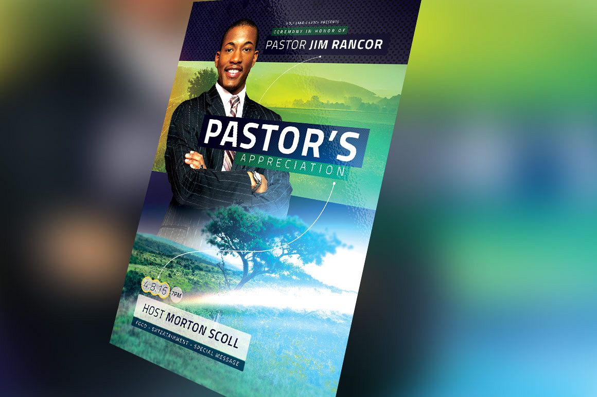 Modern Pastors Appreciation Flyer Photoshop Template