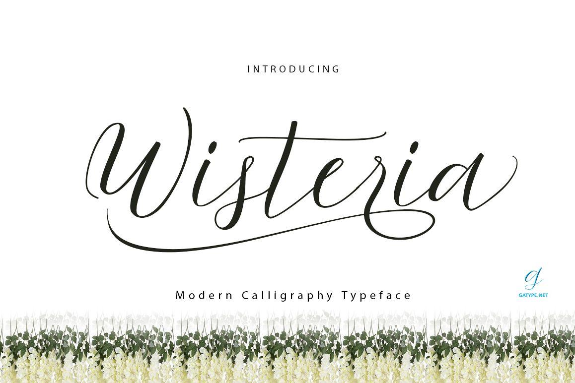 Wisteria Script example image 1