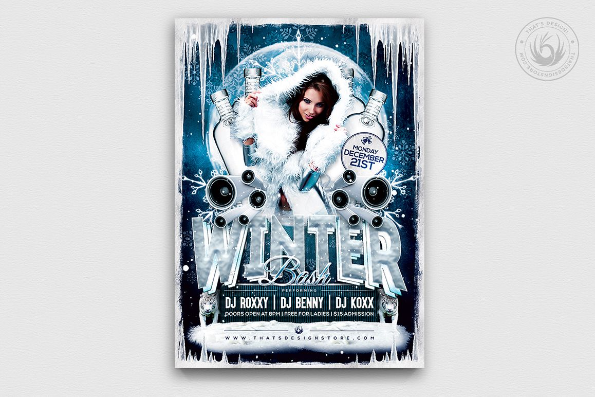 Winter Bash Flyer Template V1 example image 1