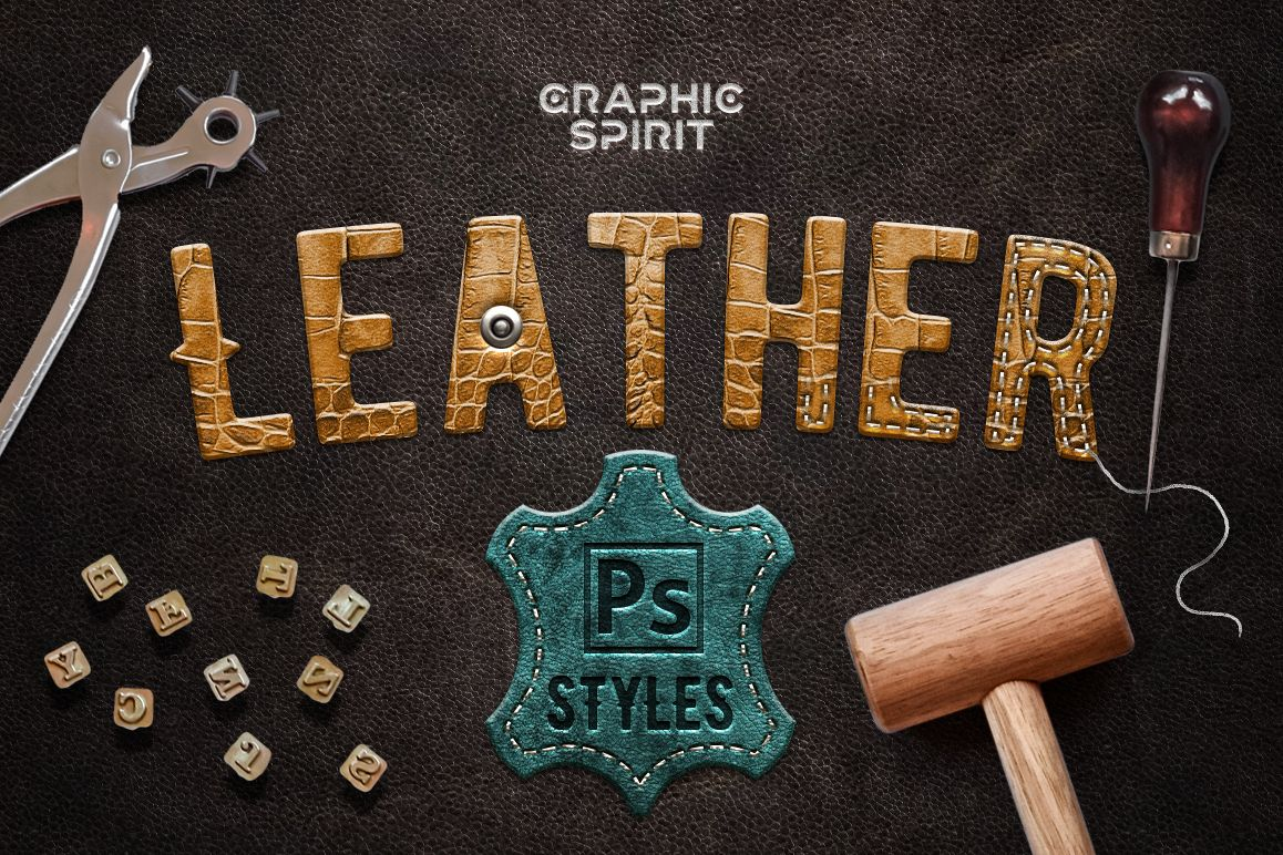 Leather Layer Styles For Photoshop example image