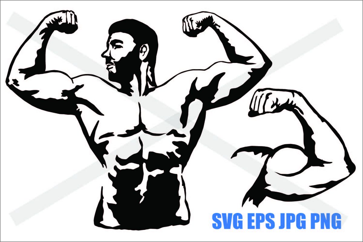 Muscle Man - SVG EPS JPG PNG example image 1