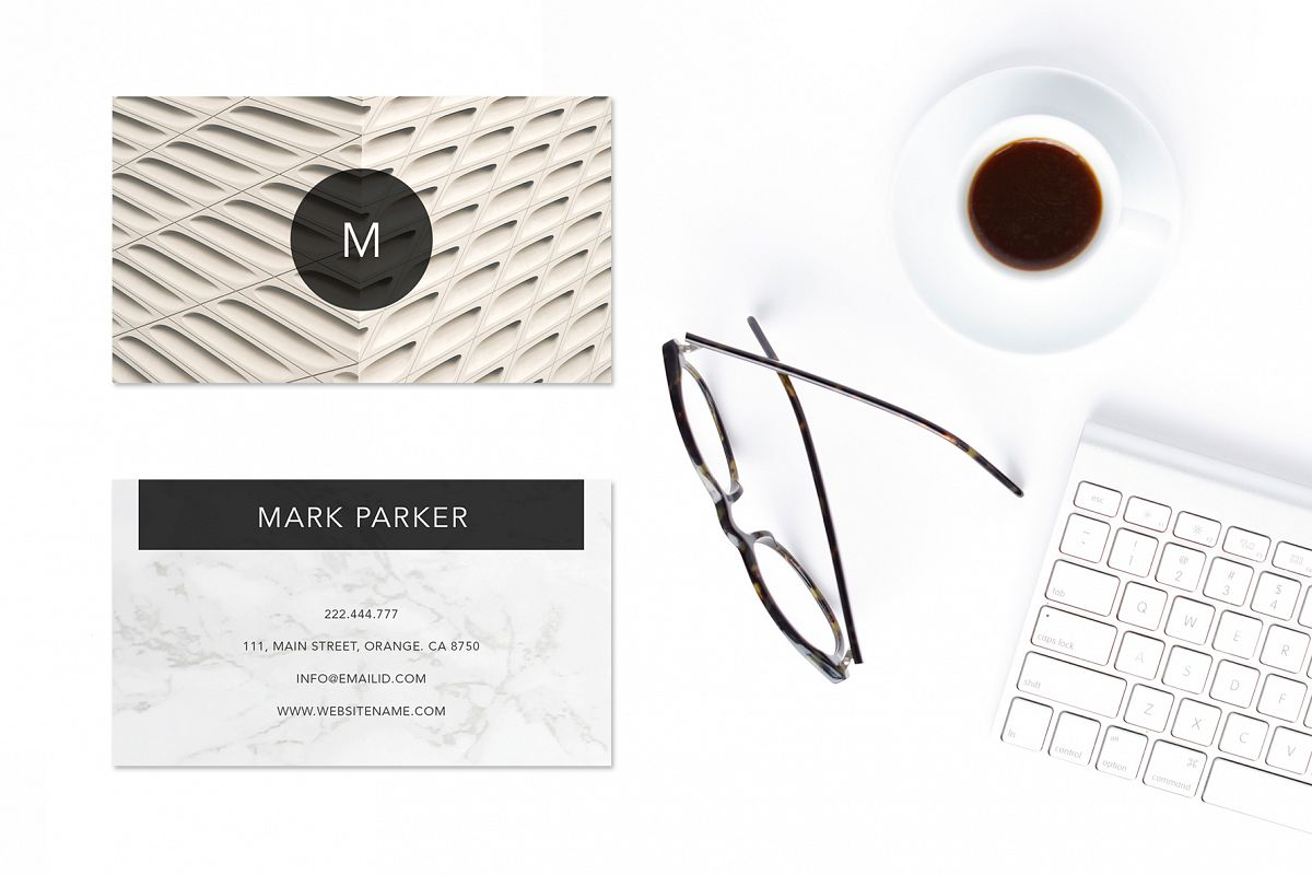 Modern Pattern Texture Beautiful Professional Art Business Card   example image 1