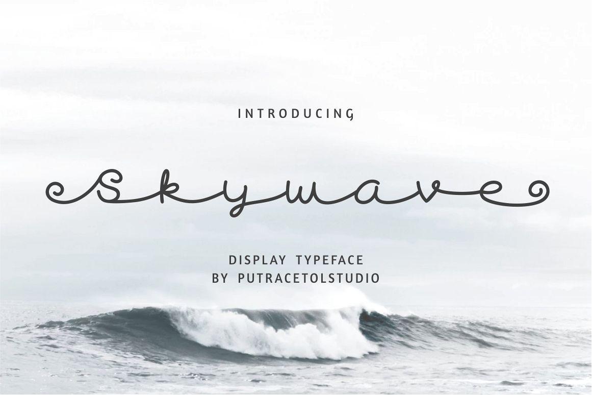 Skywave Typeface example image 1