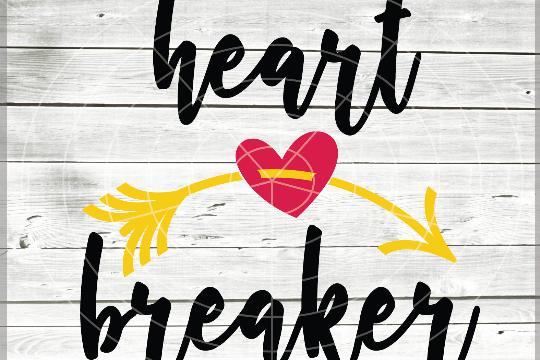 Heartbreaker Valentine Svg - Boy Valentine svg - Baby Shower example image 1