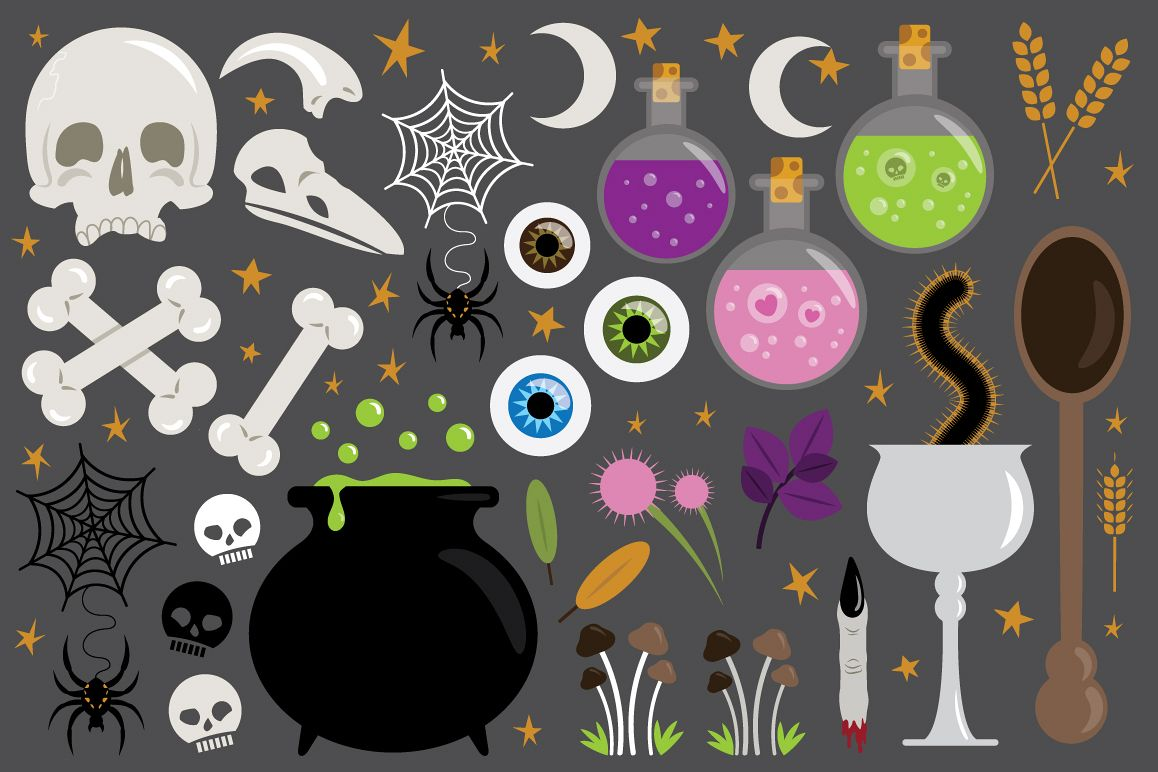 Witches Kitchen Clip Art Set example image 1