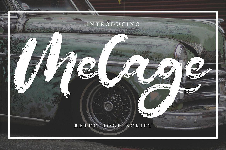 Melage   Retro Rogh Script Font example image 1