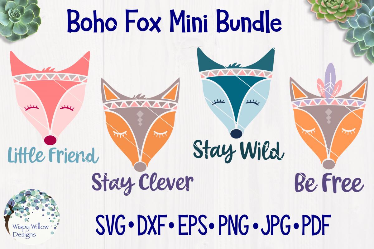 Boho Fox Mini Bundle - SVG Graphics Pack example image 1
