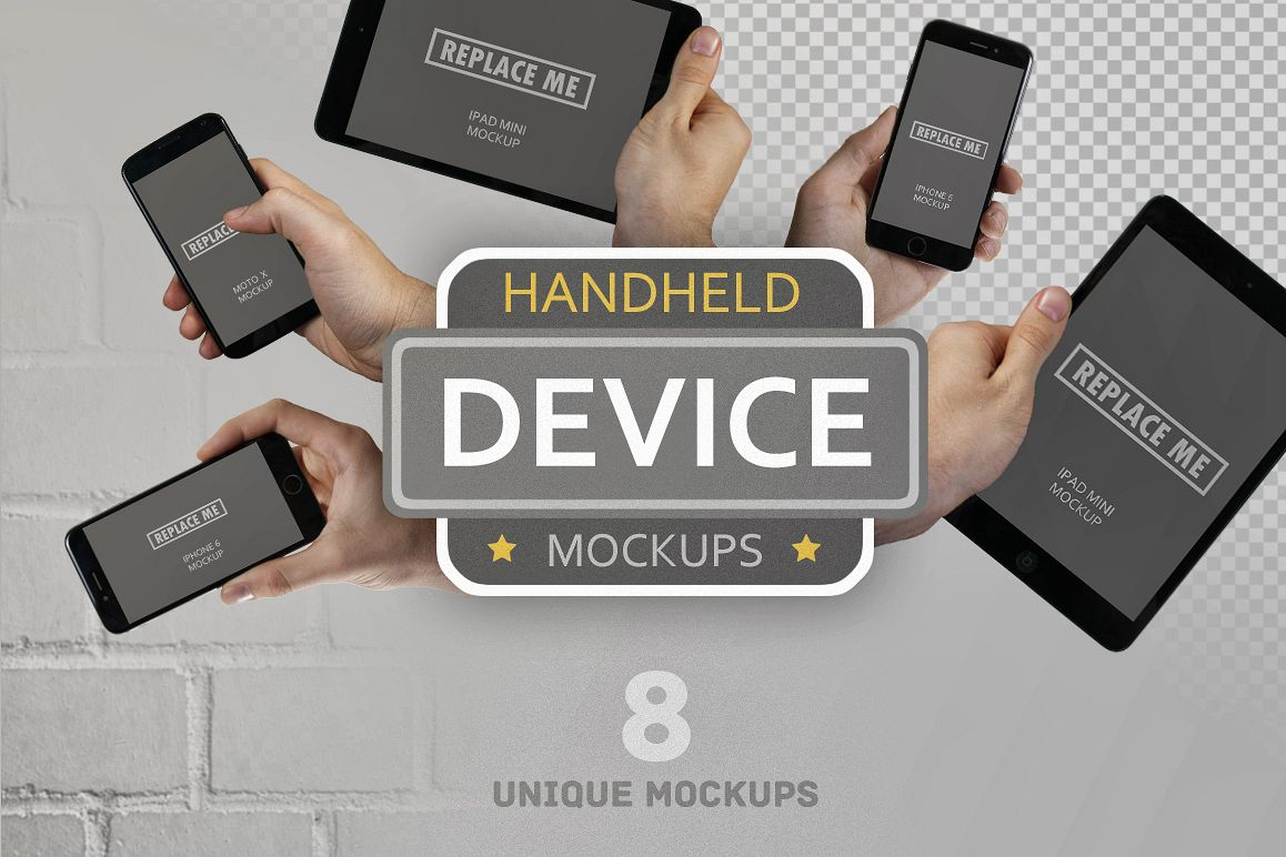 Handheld Device Mockups example image 1