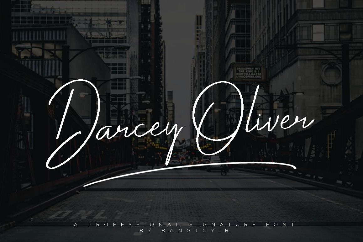 Darcey Oliver Signature Font example image 1