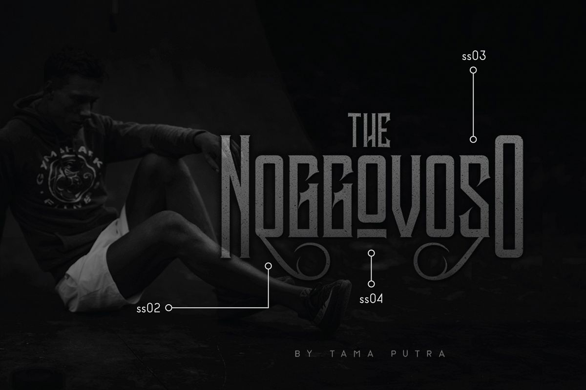 Noggovoso Decorative Display Font example image 1