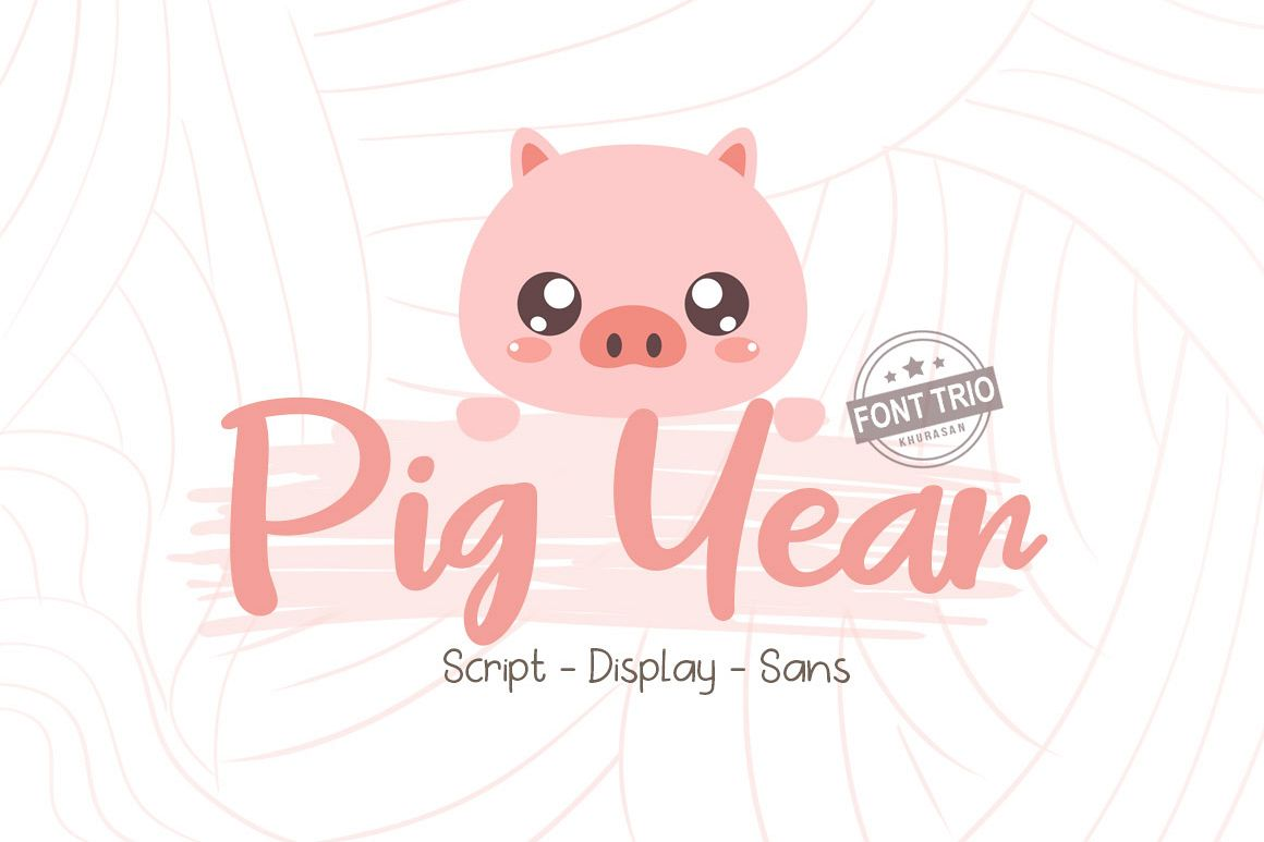 Pig Year 3 Font example image 1