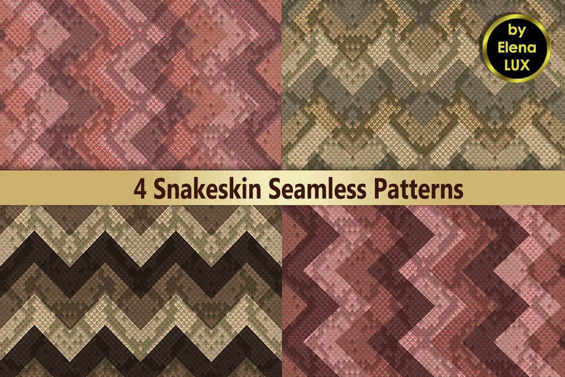 Snakeskin Seamless Patterns Set example image 1