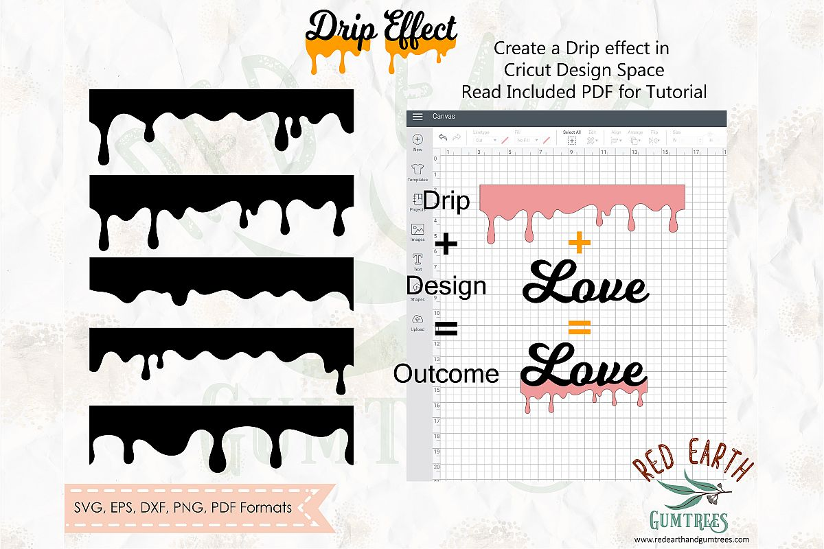 Drip bundle, Honey Drip. With Instructions SVG,PNG,DXF,EPS example image 1